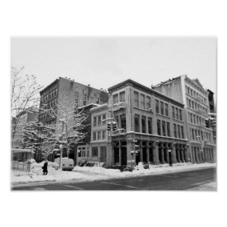New York Winter - City in the Snow Print