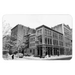 New York Winter - City in the Snow Rectangle Magnet