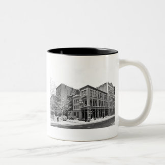 New York Winter - City in the Snow Two-Tone Coffee Mug