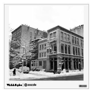 New York Winter - City in the Snow Wall Decal