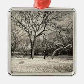 New York Winter - East Village Snow Metal Ornament