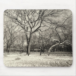 New York Winter - East Village Snow Mouse Pad