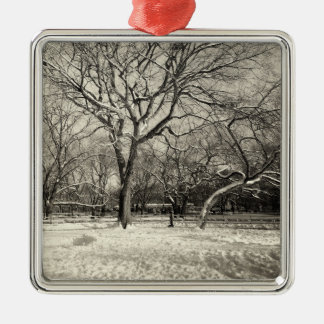 New York Winter - East Village Snow Christmas Ornaments
