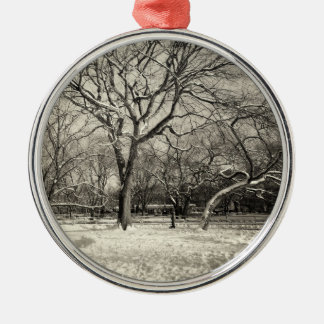 New York Winter - East Village Snow Christmas Ornament