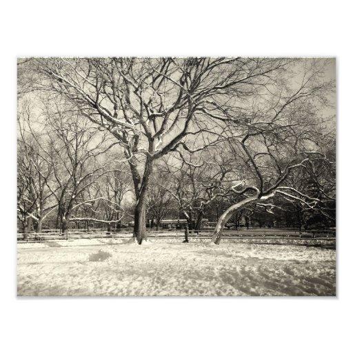 New York Winter - East Village Snow Photographic Print