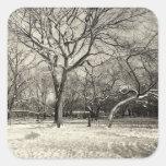 New York Winter - East Village Snow Square Sticker