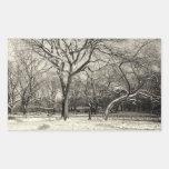 New York Winter - East Village Snow Rectangular Sticker
