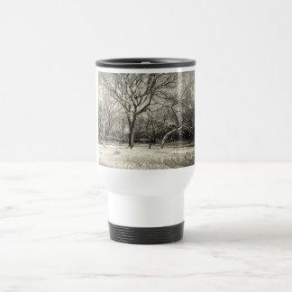 New York Winter - East Village Snow Travel Mug