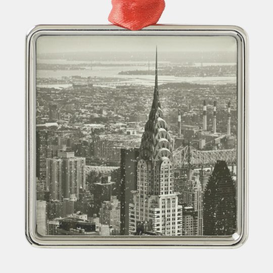 New York Winter Metal Ornament