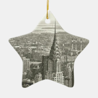 New York Winter Christmas Ornament