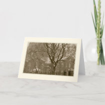 'New York Winter Scene' Holiday Card - Blank