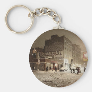 New York Winter - Snow in the City Keychain
