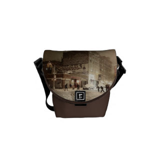 New York Winter - Snow in the City Messenger Bags