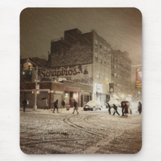 New York Winter - Snow in the City Mouse Pad