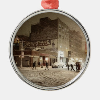 New York Winter - Snow in the City Christmas Ornaments