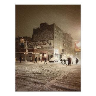 New York Winter - Snow in the City Photo Print