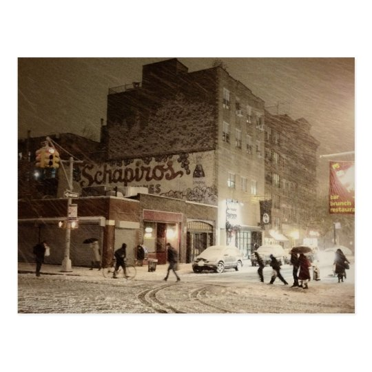New York Winter - Snow in the City Postcard