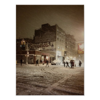 New York Winter - Snow in the City Posters