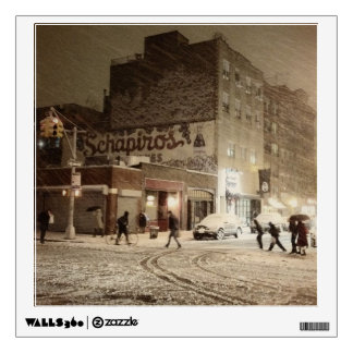 New York Winter - Snow in the City Wall Sticker