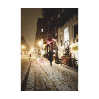 New York Winter - Snow on the Lower East Side Canvas Print
