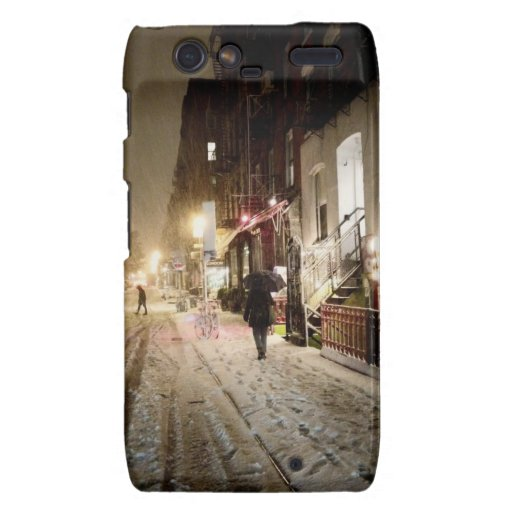 New York Winter - Snow on the Lower East Side Droid RAZR Case