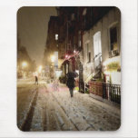 New York Winter - Snow on the Lower East Side Mousepad
