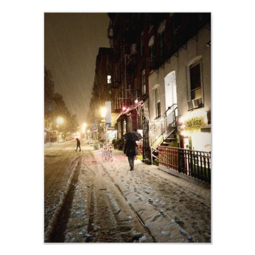 New York Winter - Snow on the Lower East Side Photo Print