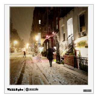 New York Winter - Snow on the Lower East Side Wall Decal