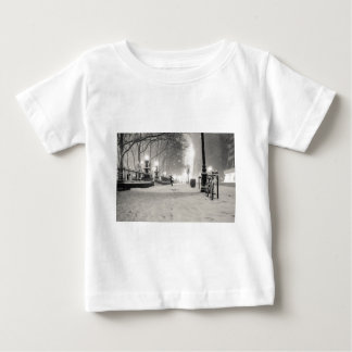 New York Winter - Snowy Night - Bryant Park Baby T-Shirt