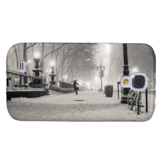 New York Winter - Snowy Night - Bryant Park Samsung Galaxy S4 Covers
