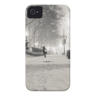 New York Winter - Snowy Night - Bryant Park Case-Mate iPhone 4 Cases