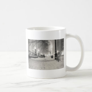 New York Winter - Snowy Night - Bryant Park Coffee Mug