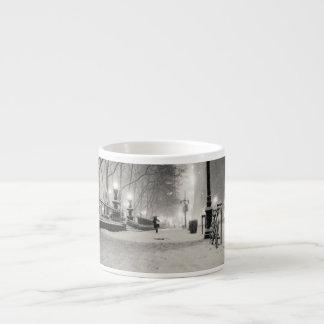 New York Winter - Snowy Night - Bryant Park Espresso Cup
