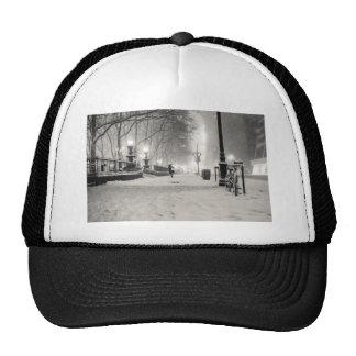 New York Winter - Snowy Night - Bryant Park Trucker Hat