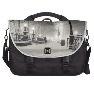 New York Winter - Snowy Night - Bryant Park Computer Bag