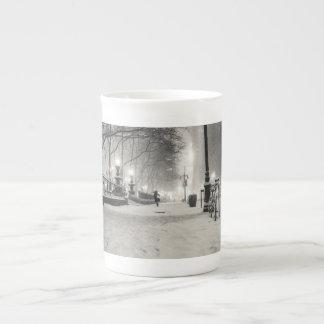 New York Winter - Snowy Night - Bryant Park Tea Cup
