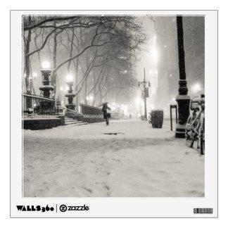 New York Winter - Snowy Night - Bryant Park Wall Sticker
