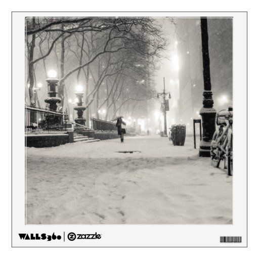 New York Winter - Snowy Night - Bryant Park Wall Decor