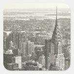 New York Winter Square Sticker