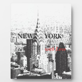 New York with Love Display Plaque