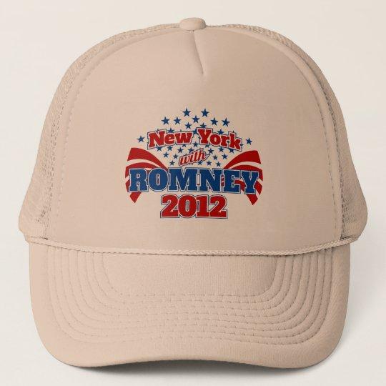 New York with Romney 2012 Trucker Hat