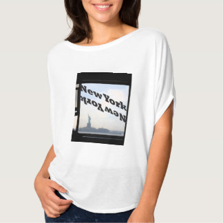 New York Women's Tshirt Statue of Liberty Ferry