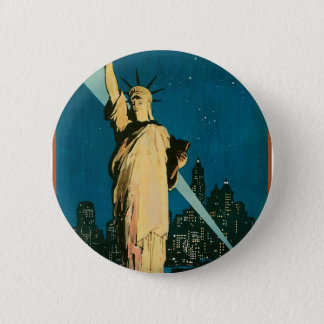 New York Wonder City of the World Pinback Button