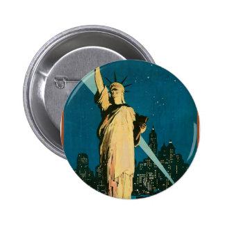New York Wonder City of the World Pinback Button