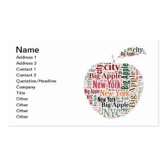 New York words cloud Business Card