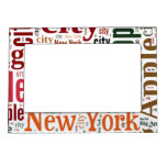 New York words cloud Magnetic Photo Frame