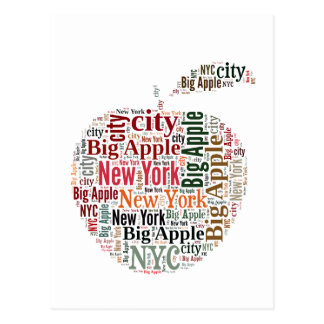 New York words cloud Postcard
