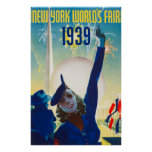New York, world fair, vintage Poster