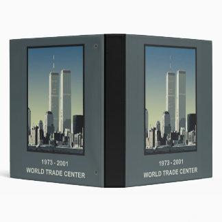 New York World Trade Center 3 Ring Binders