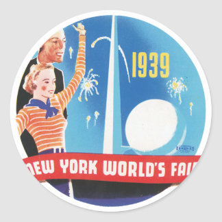 New York World's Fair 1939 Classic Round Sticker